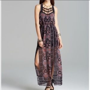 Free People Moroccan Lace Open Back Maxi